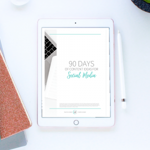 90 Days of Content for Social Media eBook Freebie | Charmed Digital